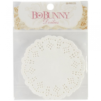 "Bo Bunny - Paper Doilies small 4"" - 20 Stück"