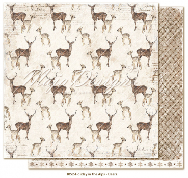 Maja Desig Holiday in the Alps Deers Scrapbookingpapier 12x12