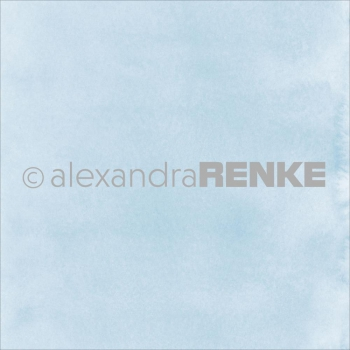 "Alexandra Renke - Scrabookingpapier Light Blue Watercolor Design Paper 12""X12"""