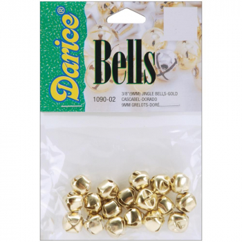 Darice - Jingle Bells gold 9mm 18 Stück