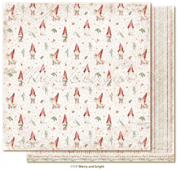 Maja Design Papier Traditional Christmas Merry and bright Scrapbookingpapier 12x12