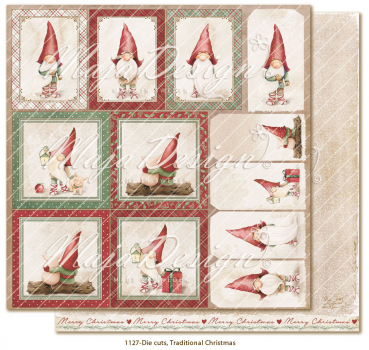Maja Design Traditional Christmas Die Cuts Scrapbookingpapier 12x12