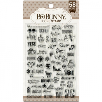 BoBunny - Icons Clear Stamps 58 Stück