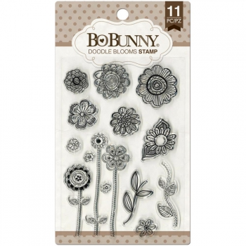 BoBunny - Doodle Blooms Clear Stamps Set