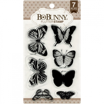Bo Bunny - Clear Stamps Flutter