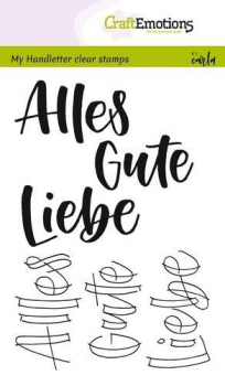 CraftEmotions Clearstempelset Alles Gute Liebe Handletterling Clear Stamps by Carla