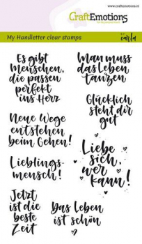 CraftEmotions Clearstempelset A6 Handlettering Verschiedene Texte by Carla