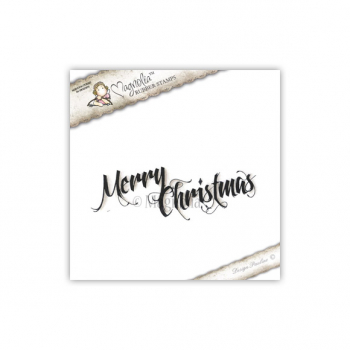 Magnolia - Sweet Christmas Dreams Cling Stamp Merry Christmas (text)