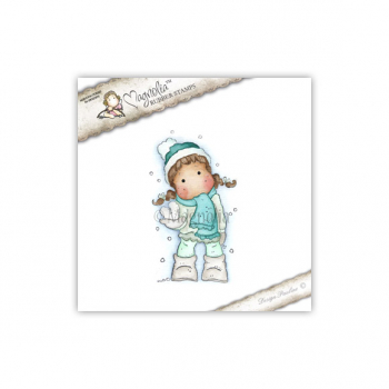 Magnolia - Sweet Christmas Dreams Cling Stamp Tilda with Snow Heart