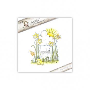 Magnolia Little Easter Clingstempel Happy Easter Background