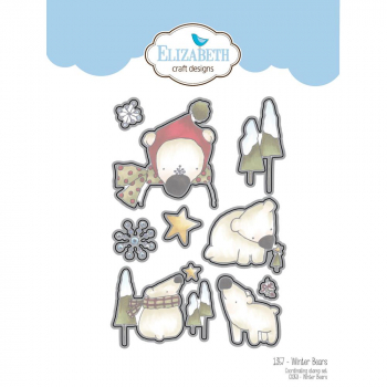 Elizabeth Craft Designs - Clear Stamps Set & Dies Combo Winter Bears