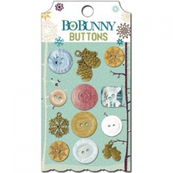 Bo Bunny - Snow Day - Buttons