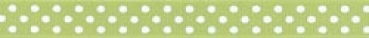 "Offray - Confetti Dots Ribbon 5/8"" - Lime & White"