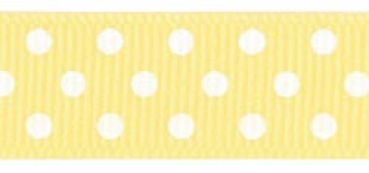 "Offray - Confetti Dots Ribbon 5/8"" - Maize"