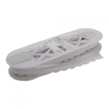 Spitzenband Fan Cluny Lace white