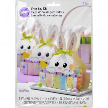 Wilton - Beutel Osterhase Treat Bag Wrap Kit Sweet Splatter 4 Stück