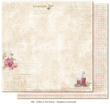 Maja Design Coffee in the Arbour Raspberry lemonade Scrapbookingpapier 12x12""