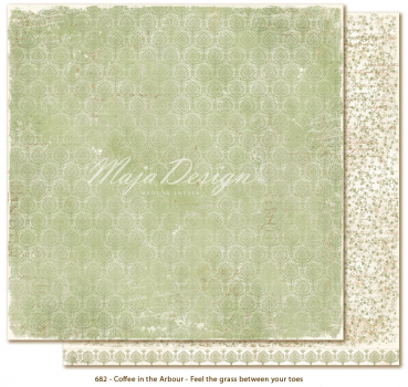 Maja Design - Scrapbooking Papier Coffee in the Arbour Feel the grass between your toes 12x12""