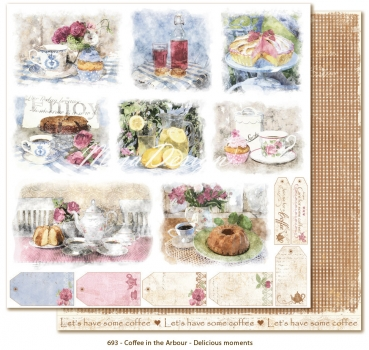 Maja Design Coffee in the Arbour Delicious Moments Scrapbookingpapier 12x12""