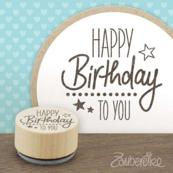 Holzstempel Happy Birthday to you 2.3cm