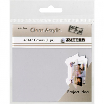 "Zutter - Bind-It-All - Clear Acrylic Covers 4x4"" - 1 Paar"