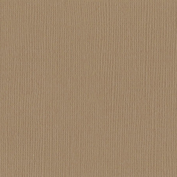 Bazzill - Cardstock Textured Canvas Fawn 12x12""
