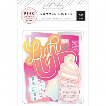 *NEU Pink Paislee - Summer Lights Ephemera Pack Die-Cuts