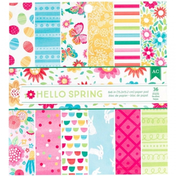 American Crafts - Hello Spring Paper Pad 6x6""