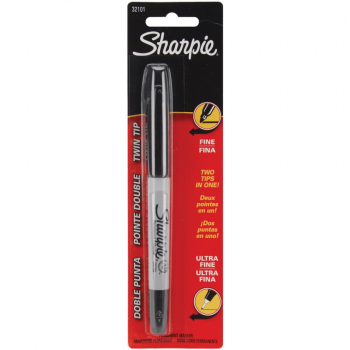 Sharpie Fine & Ultra Fine Twin-Tip Permanent Marker Black