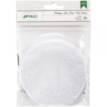 *NEU American Crafts - Holiday Paper Doilies White 4.5""