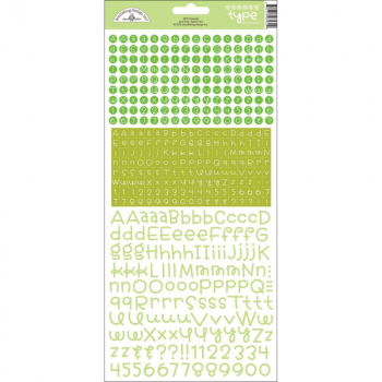 Doodlebug Design - Teensy Type Alphabet Stickers Limeade 12x6""