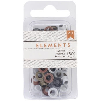 American Crafts - Eyelets Metallic 3/16