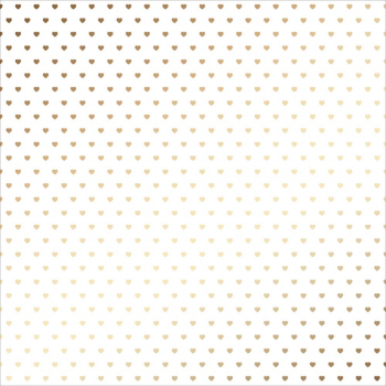 American Crafts - DIY Shop Gold Hearts on Vellum 12x12""