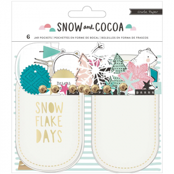 Crate Paper - Snow and Cocoa Jar Pockets