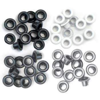 We R Memory Keepers Oesen Grau Standard Eyelets Grey 60 Stück