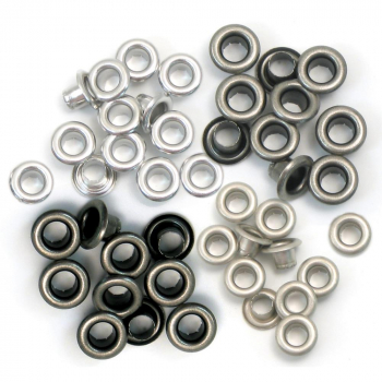 We R Memory Keepers - Standard Eyelets Cool Metal 60 Stück