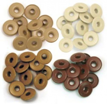 We R Memory Keepers - Wide Eyelets brown 40 Stück