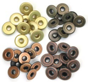 We R Memory Keepers - Wide Eyelets Warm Metal 40 Stück