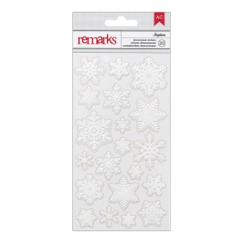 American Crafts - Glitzersterne Dimensional Stickers Iceplum Snowflakes