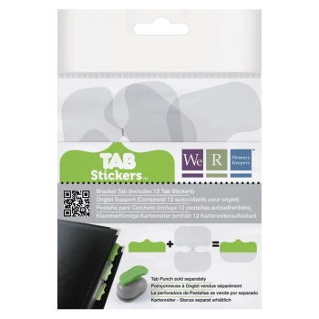 We R Memory Keepers - Tab Stickers Bracket - 12 Stück