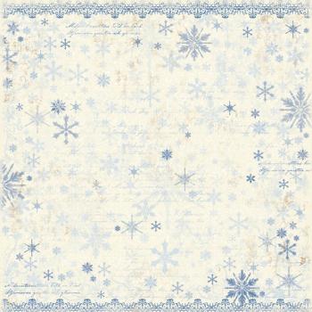 Maja Design Vintage Winter It's Snowing Scrapbookingpapier 12x12""