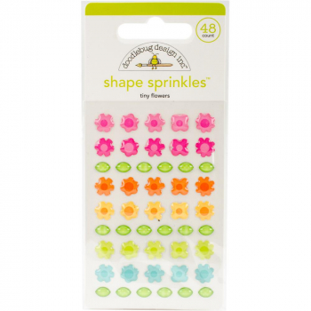 Doodlebug Design - Tiny Flowers Adhesive Shape Sprinkles