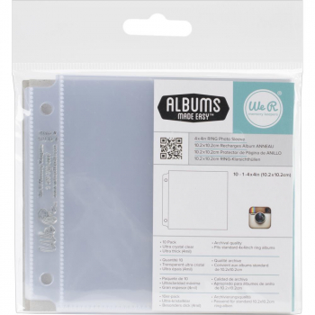 "American Crafts - Project Life Instagram Photo Page Protectors 4x4"" - 10 Stück"