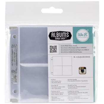 "We R Memory Keepers - Project Life Instagram Photo Sleeves (4)x2x2"" - 10 Stück"