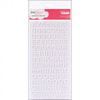 *NEU American Crafts - Dear Lizzy Thickers Foam Stickers White 6x11""
