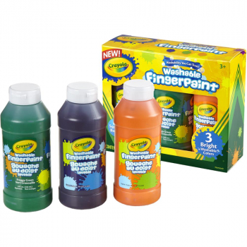 Crayola - Fingerfarben Washable Fingerpaint 3er Pack