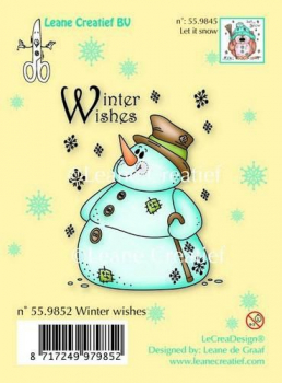 Leane Creatief Clearstempelset Snowman Winter Wishes