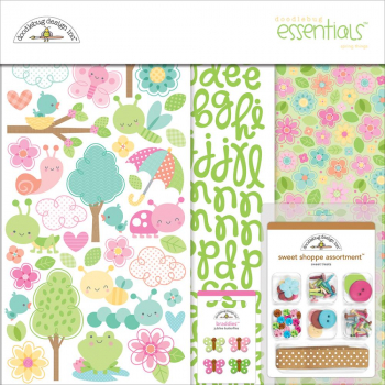 Doodlebug - Spring Things Essentials Page Kit Spring Things 12x12""