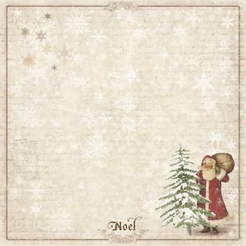 Maja Design - Scrapbooking Papier It's Christmas Time Santa & Christmas tree 12x12""