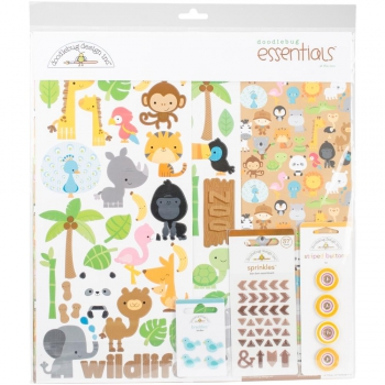 Doodlebug - Essentials Page Kit At The Zoo 12x12""
